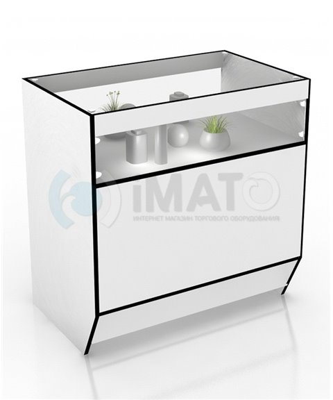 Прилавок торговый большой дсп и стекло 55-90-90 модерн