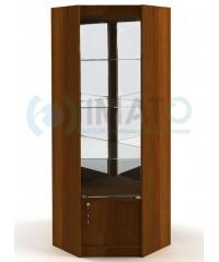 ВУ-164-З Угловая витрина зеркальная , стенка зеркало