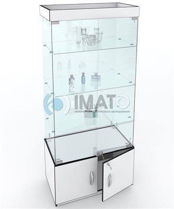 Витрина стеклянная, классическая  с накопителем №53