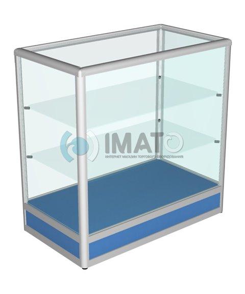 Прилавок торговый алюминиевый со стеклом 50-90-90