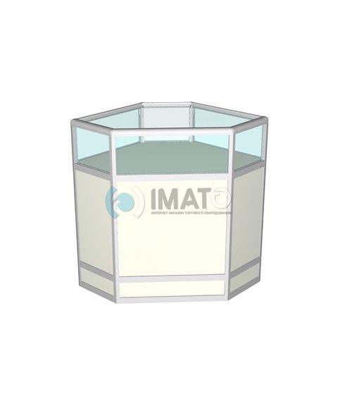 Прилавок торговый рамочный алюминиевый угловой 70-70-90
