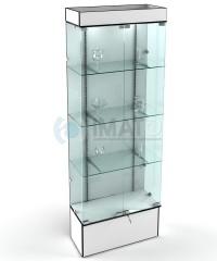 В-802 Витрина стеклянная серии Оптима с кронштейнами