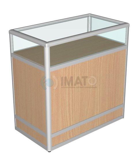 Прилавок торговый рамочный алюминиевый со стеклом 50-90-90