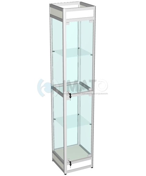 Витрина выставочная алюминиевая с цоколем 40-40-200