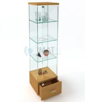 """ВК-450 Н Стеклянная витрина """"Стаканчик"""" с выкатным ящиком"""