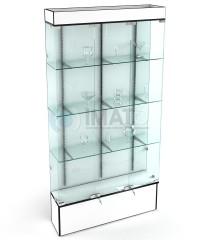 В-703 Витрина стеклянная серии Оптима, 1200 мм