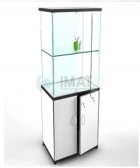 ВК-700 Ш Выставочная витрина-шкаф с высоким накопителем-тумбой