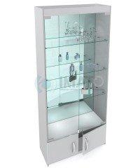 В-64-З Классическая стеклянная витрина задняя стенка зеркало