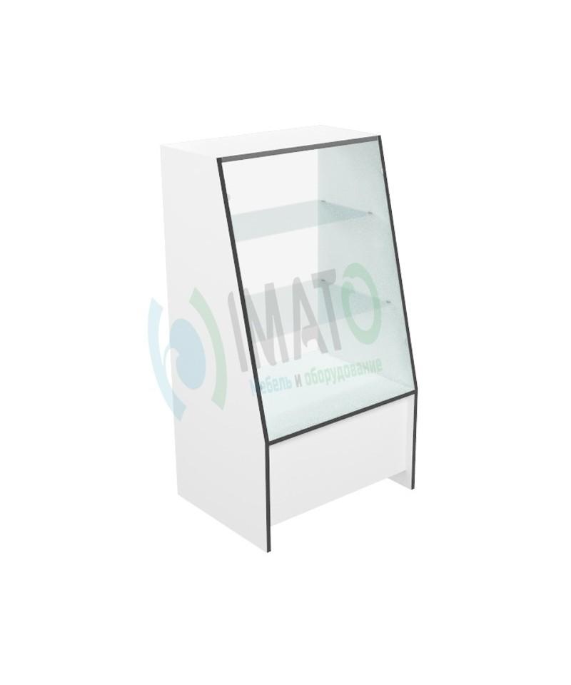Витрина с наклонным стеклом узкая В-41-60