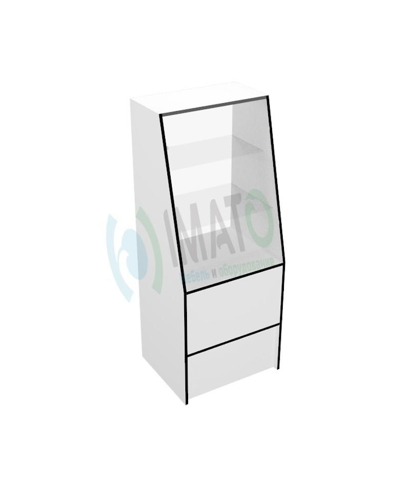 Витрина В-40-60 торговая с наклонным стеклом узкая
