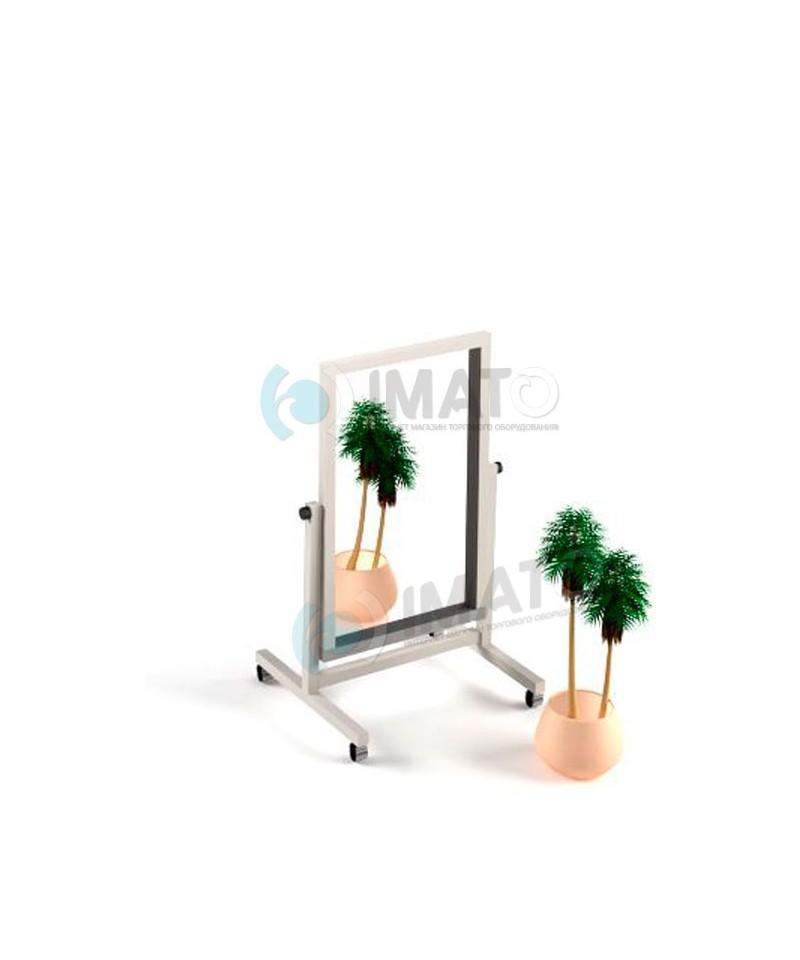 Зеркало ИМАТО 600-500 , сталь крашенная 25х25мм серый/белый/черный