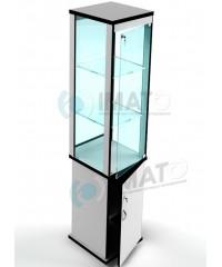 ВК-400-С  витрина стаканчик стеклянная с тумбой