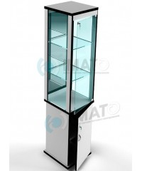 ВК-400-З витрина стаканчик зеркальная с тумбой