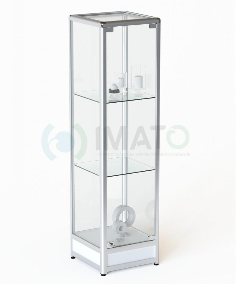 ВА-200 Витрина стаканчик из алюминиевого профиля с подиумом, цвет белый