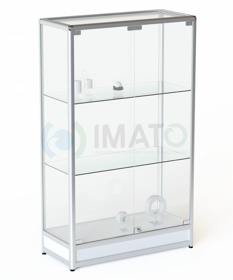 ВА-201 Витрина из алюминиевого профиля на подиуме, цвет белый