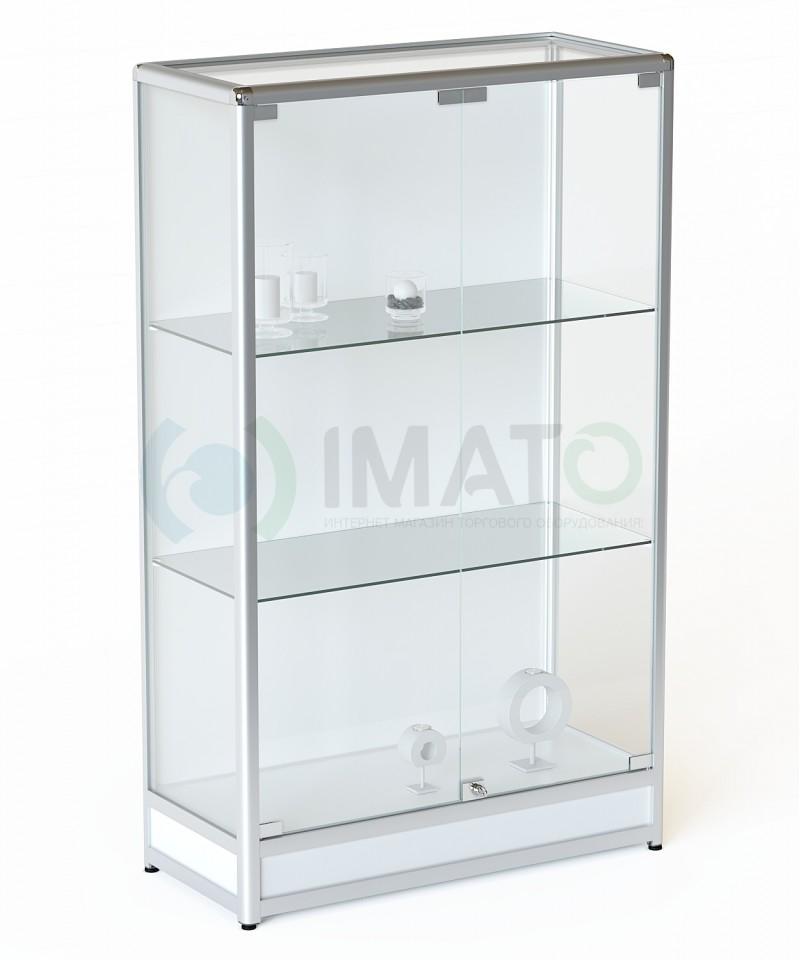 ВА-201-Д Витрина из алюминиевого профиля на подиуме, цвет белый