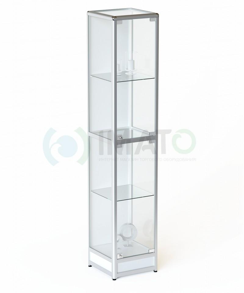 ВА-240-Д Витрина из алюминиевого профиля с подиумом, цвет белый