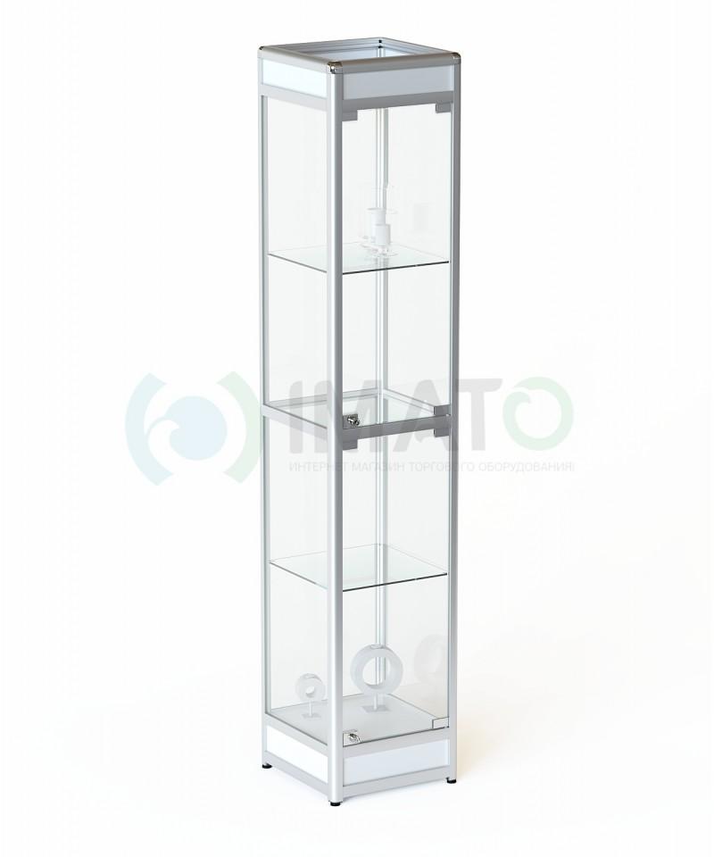 """Витрина """"ВА-400"""" из алюминиевого профиля с подиумом, цвет белый"""