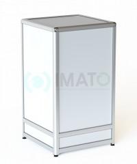 ПР-30-50А Прилавок торговый из алюминиевого профиля, цвет белый
