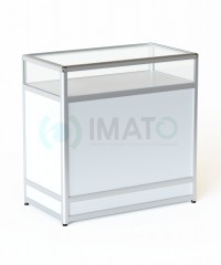 ПР-31А Прилавок торговый рамочный алюминиевый со стеклом