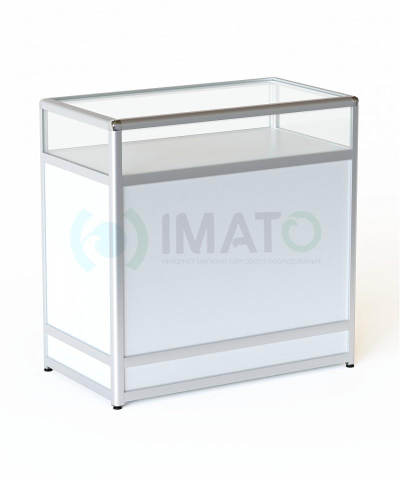 """Прилавок """"ПР-31А"""" из алюминиевого профиля со стеклом, цвет белый"""