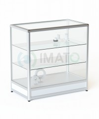 ПР-32А Прилавок торговый алюминиевый со стеклом
