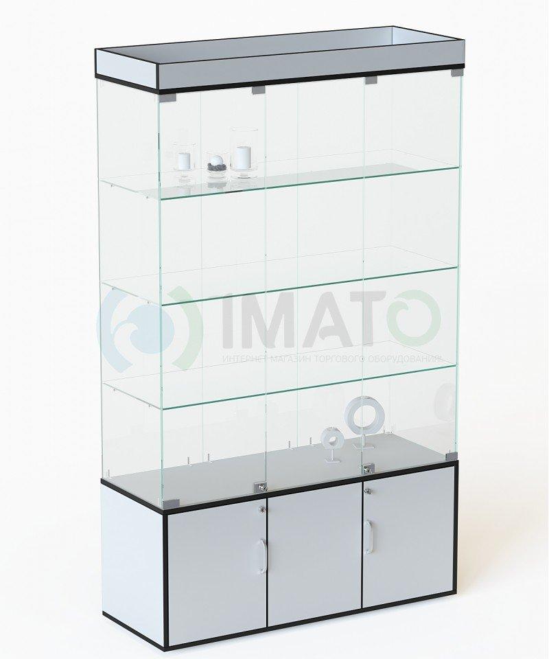 Витрина стеклянная, классическая с накопителем №54