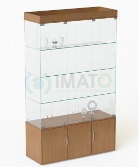В-54 Витрина стеклянная классическая с накопителем №54