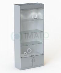 В-164-Д Стандартная витрина с подсветкой №106, стенка ДСП