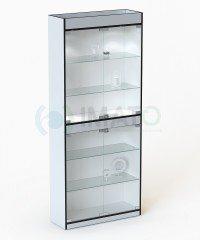 В-306-Д Витрина стеклянная с дверцами задняя стенка ДВПО