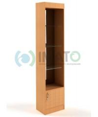 В-62-45-З Витрина открытая, с накопителем, задняя стенка зеркало