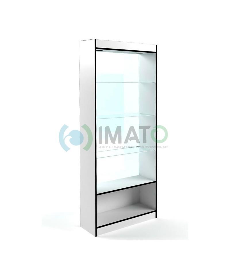 В-6-С Витрина открытая, с накопителем, без дверей, задняя стенка стекло