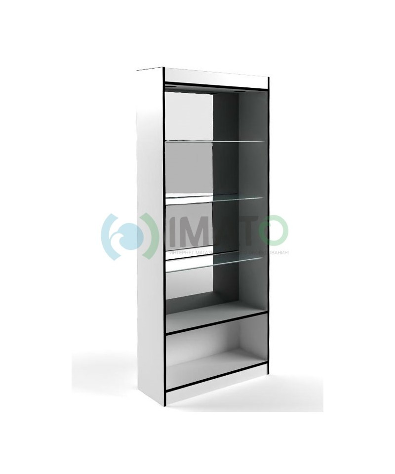 В-6-З Витрина открытая с накопителем без дверей, задняя стенка зеркало