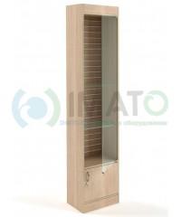 В-64-45-Э Витрина узкая с дверями задняя стенка экономпанель