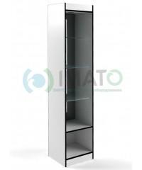 В-160-45-З Витрина узкая открытая, с накопителем, без дверей, задняя стенка зеркало