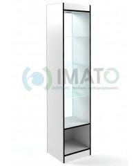 В-160-45-С Витрина узкая открытая, с накопителем, без дверей, задняя стенка стеклом
