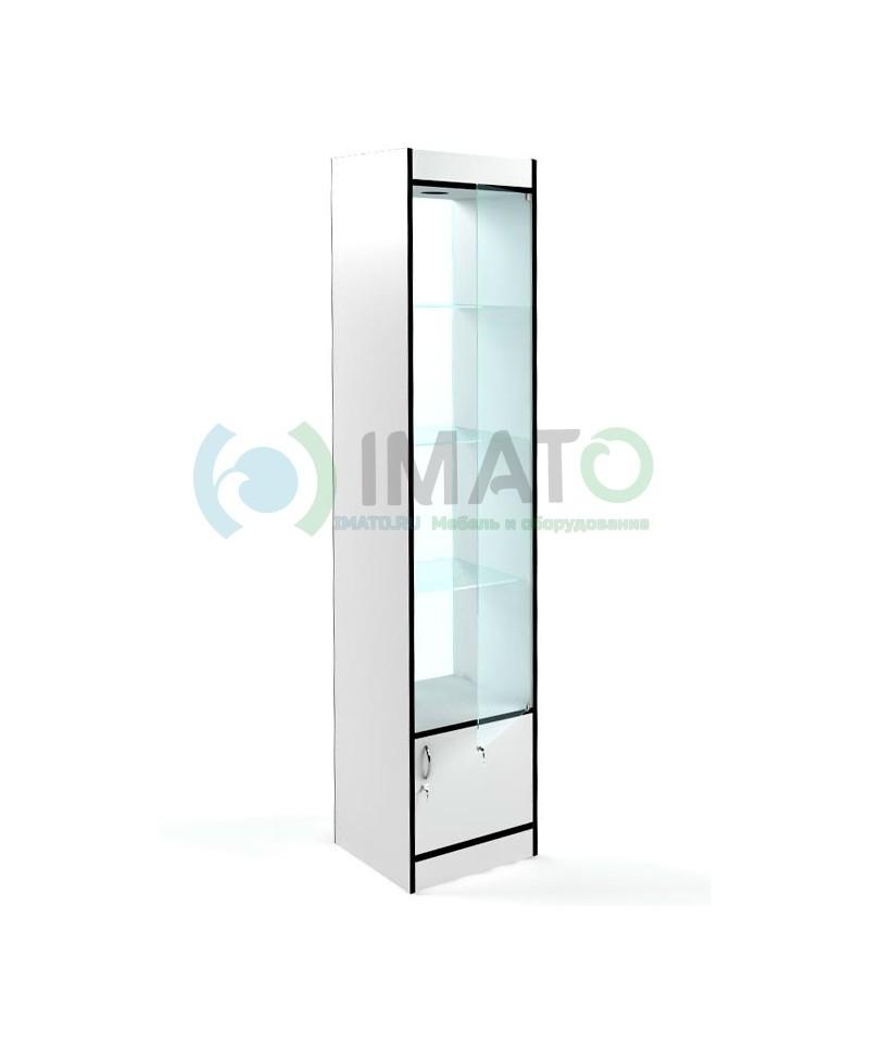В-164-45-С Витрина узкая стеклянная, классическая с накопителем