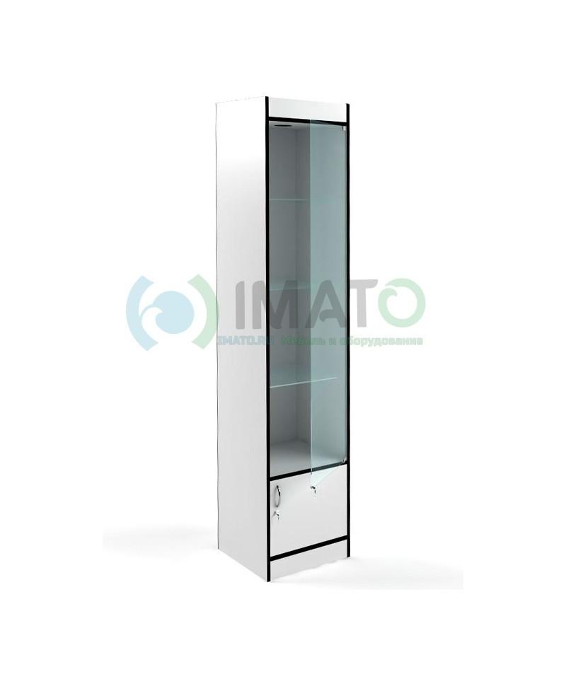 В-164-45-Д Стеклянная витрина с накопителем и стенкой ДВПО