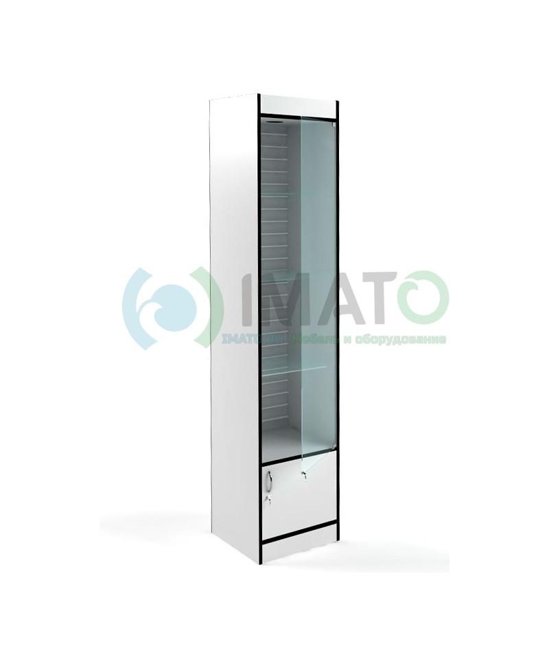 В-164-45-Э Стеклянная витрина с накопителем и стенкой экономпанель