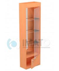 В-6-60-З Витрина зеркальная, с накопителем, задняя стенка зеркало