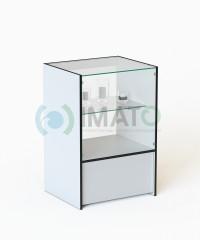 ПР-32-60-Н Прилавок торговый классический со стеклом