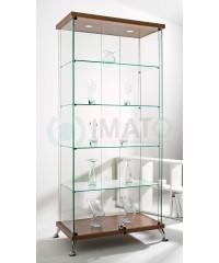 Прямоугольная стеклянная витрина шпон As64.08vp