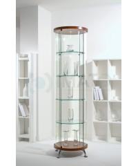 Круглая стеклянная витрина шпон As64.02vp