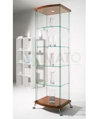 Полукруглая стеклянная витрина шпон As64.03vp