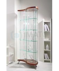 Стеклянная витрина «Капля» шпон As64.05vp
