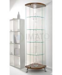 Угловая стеклянная витрина шпон As64.07vp