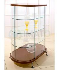 Овальная стеклянная витрина шпон As64.10h1247vp